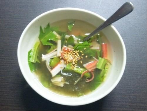 ベニーリーフを使った簡単スープ