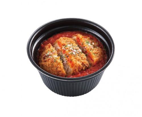 トマトメンチカツ丼